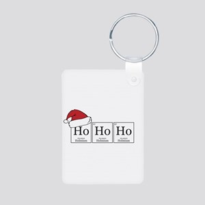 Ho Ho Ho [Chemical Elements] Aluminum Photo Keycha